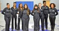From left to right: Head Coach Tasha Gore, Danay Gore, Shimiya Rivers, Laura Olivas, Andrea Gutierrez, Trinity Yoscovitz, Marissa Green, Assistnat Coach Aja Gore
